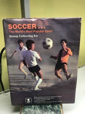 Soccer: The World's Most Popular Sport Stamp Album Collecting Kit - Brand New