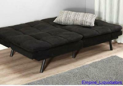 Pallet Mainstays Memory Foam Futon Black Fabric Mattress With Frame