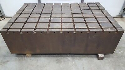 """T-Slot Workholding Fixture Table Slotted Steel Mounting Plate 48"""" x 72"""""""