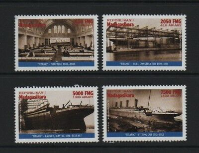 """MADAGASCAR 1998 86th ANNIV OF THE """"TITANIC"""" DISASTER - BUILDING THE LEGEND *MNH*"""