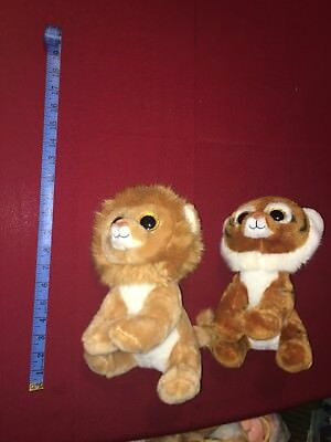 "333942eaaff TY Large Beanie Boo Louie Lion Tiggs Tiger Stuffed Animal Plush Toy 10"" 2015"