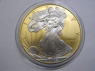 USA 1 $ 2009 ST Eagle 1Oz Silber+Gold+Platin Wall Street Investment
