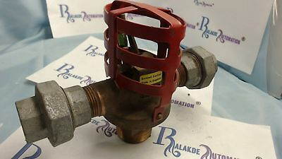 "GRINNELL Mather + platt 1 1/2"" double outlet deluge valve sprinkler 93°C 200°F"