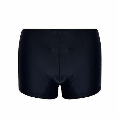 New Boys Black Plain Superior Stretch Swim Shorts Ages 5 To 13 Years S M L