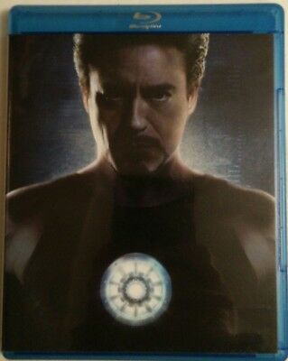 Iron Man (Blu-ray Disc, 2008, 2-Disc, Ultimate Edition) Marvel Robert Downey Jr.
