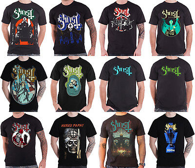 Ghost T Shirt Meliora Opus eponymous band logo Popestar tour new official mens