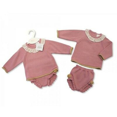 Outfits & Sets Girls' Clothing (0-24 Months) Baby Girl Romany/spanish Style Knitted Zip Zap Pink Outift 6 Months