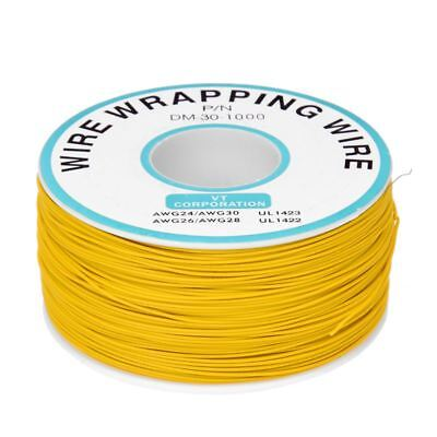 un rouleau de fil flexible jaune du diametre de 0,25 mm 30AWG 820Ft pour PC A5M5