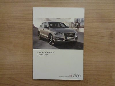 audi q5 sq5 owners manual handbook guide set original case 2012 rh picclick co uk Audi Owners Manual PDF Audi Owners Manual PDF