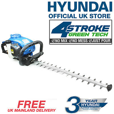 "SALE Hyundai Garden Hedge Trimmer 26cc 4 Stroke Engine 20"" Cutting Length"