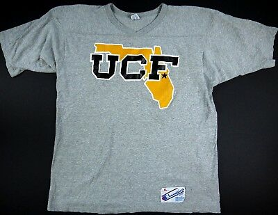 VINTAGE 80s CHAMPION UCF KNIGHTS t shirt UNIVESITY CENTRAL FLORIDA USA mens XL