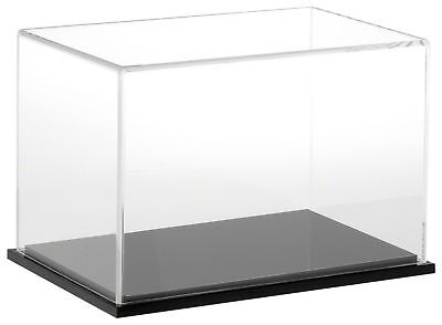 """Plymor Brand Clear Acrylic Display Case with Black Base, 9"""" W x 6"""" D x 6"""" H New"""