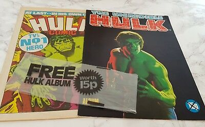 Hulk Comic 1979 First Issue 1st No 1 Incredible Free Sticker Album Marvel