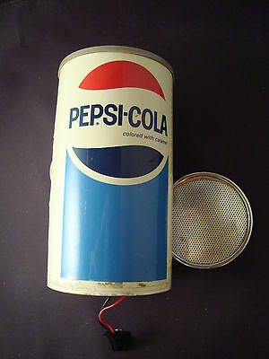 Vintage Collectible Pepsi Can AM Radio Works Fine Missing Bottom Part