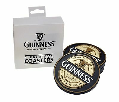 Guinness Label Coasters Set of 4 New
