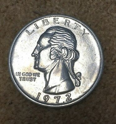 1972 George Washington Novelty 3 Inch Quarter Metal Coin Coaster Paperweight