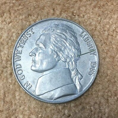1985 Novelty Metal 3 Inch Jefferson Nickel Coin Coaster Paperweight