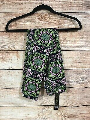 Tall and Curvy Super Soft Leggings Navy Pink Green Celtic Kenna Plus P206N