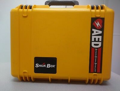 Aed Shok Box Water Tight Yellow Hard Carrying Case,cardiac Science,defibtech