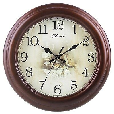 Vintage Analog Wall Clock with Concise Design Nostalgia style Ultra Mute ... New