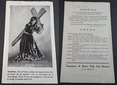 Old Blessed Jesus Christ In The Cross Holy Card Andachtsbild Santini      Cc2168