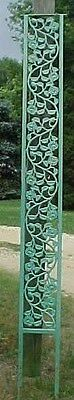 3 Vintage flat panel Wrought Iron rose design Porch Corner Posts