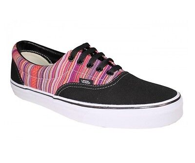 27983941f2 Vans Off the Wall Era Guate Weave Black Multi Stripe Mens Shoes 12 Sneaker  Sk8
