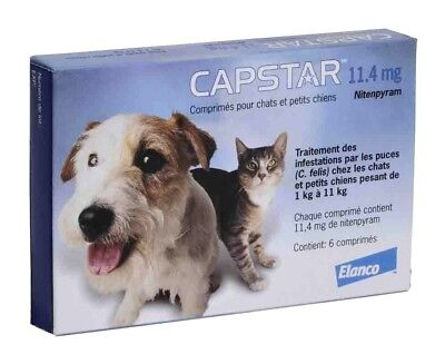 CAPSTAR Blue 6 Tablets for Cats & Dogs under 25 lbs - FAST FREE SHIPPING -