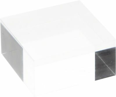 """Plymor Brand Clear Polished Acrylic Square Display Block, 1"""" H x 2"""" W x 2... New"""