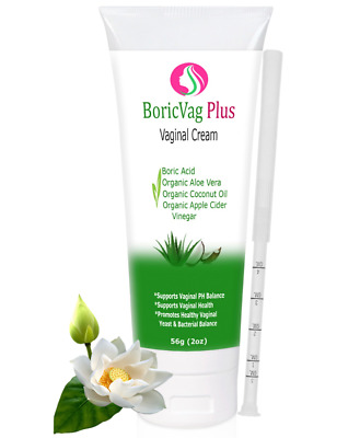 Boric Acid Cream | 2 oz | Boric Acid, Coconut Oil, Aloe Vera, Vinegar