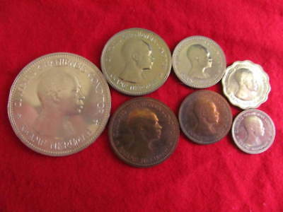 Ghana 1958 Proof Set Including Silver 10 Shillings Coin