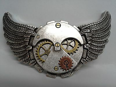 "Flying Time Gear Trophy Buckle 1-3/4"" (44 mm) Tandy Leather 1799-02 Free Ship!!"