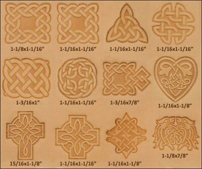 NEW Craftool Celtic 3-D Stamp Set (13pcs) Tandy Leather 8161-00 **Free Shipping!