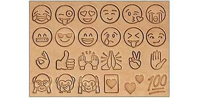 "*NEW Craftool Emoji Stamp Set 1/2"" & handle Tandy Leather 8156-00 FREE SHIPPING!"