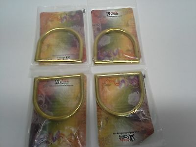 "Set of 4 (Four) 2"" - 51mm Solid Brass Cast D Rings Tandy Leather 1129-06 - F/S!"
