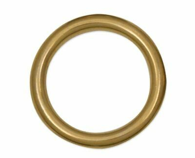 """Four (4) Solid Brass Cast Ring 1-3/4"""" - 45 mm  Tandy Leather 1179-04 F/S to US!"""