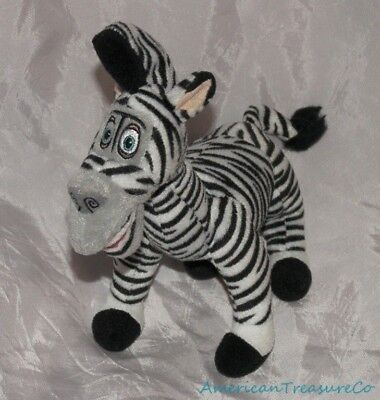 "2008 Ty Beanie Babies Madagascar 2 Plush 8"" Funny Marty The Zebra Chris Rock"