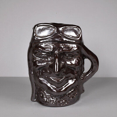 Australian Limited Edition Bendigo Pottery, Character Jug, Kingsford Smith