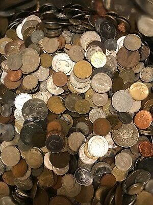 Nice Mixed Bulk Lot of 100 Assorted World/Foreign Coins! More than 100 countries