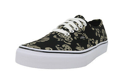 0a23ef4f63b743 VANS Authentic 50th Anniversary Duke Black Gold Foil Lace Up Sneakers Men  Shoes