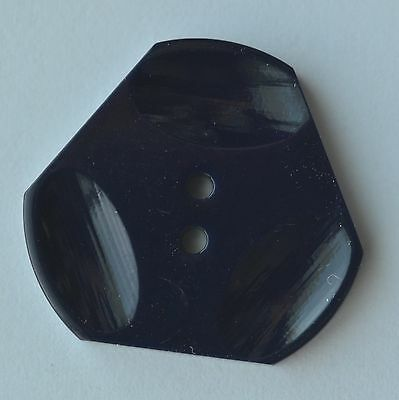 "N124B/  8 Navy Blue Casein Plastic Triangle Button 1 1/4"" Quantity Discount"