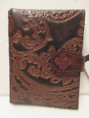 Patricia Nash Brown PASSPORT Burnished Tooled Lace Wallet Holder NEW