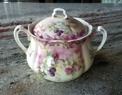 Vintage Antique Biscuit Jar Hand Painted Made In Germany