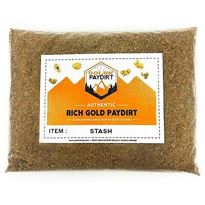 Goldn Gold Paydirt Stash Panning Pay Dirt Bag  Gold Prospecting Concentrate New