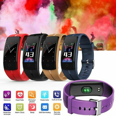 Waterproof Fitness Tracker Bluetooth Watch Heart Rate Blood Pressure Monitor