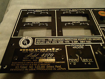 Marantz 4270 Receiver Parting Out Back Panel With AC Outlets