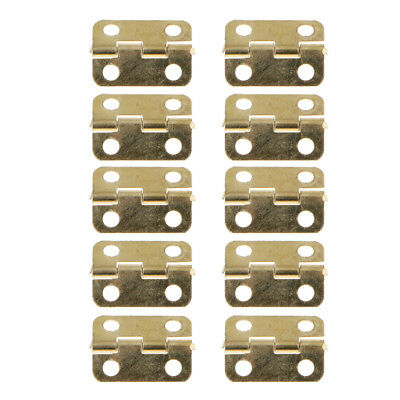 10Pcs Metal Folding Home Furniture Drawer Cabinets Door Butt Hinges 16x12mm