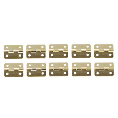 10Pcs Metal Folding Home Furniture Drawer Cabinets Door Butt Hinges 24x19MM