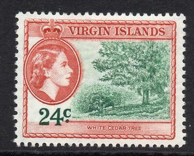 Virgin Islands 24 Cent Stamp c1956-62  Mounted Mint (553)