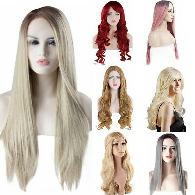 Ladies Full Wig Natural Looking Straight Hair Long Hair Curly Wavy Wig Christmas